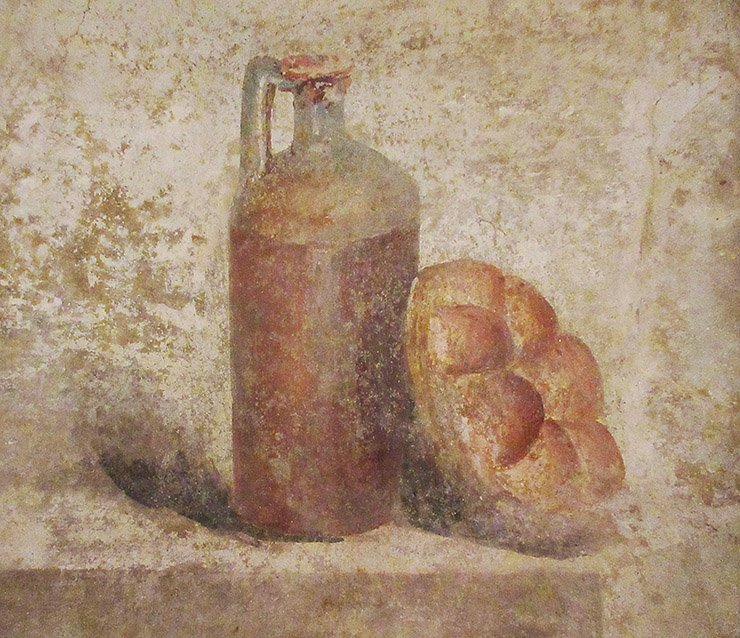 Fles en brood Pompeii