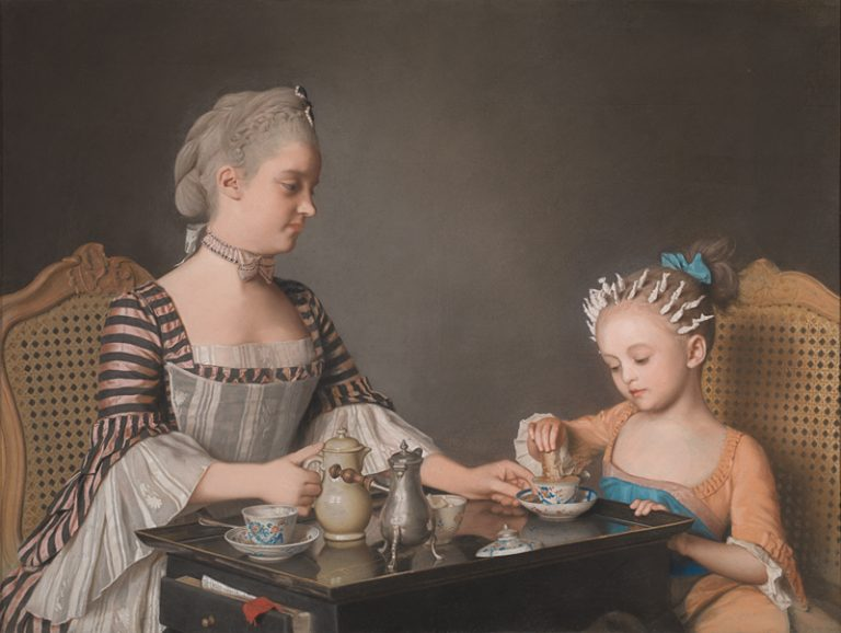 Ontbijt bij de familie Lavergn, Jean-Etienne Liotard, 1754, The National Gallery