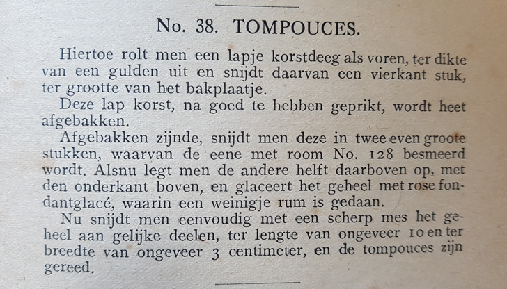Tompouce, 1918