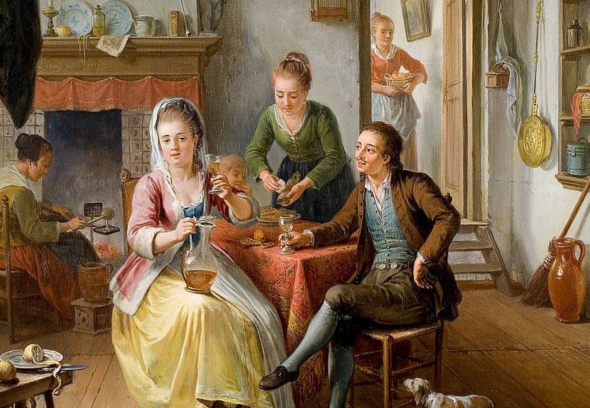 Het wafelhuis, Willem Joseph Laquy, 1775, Rijksmuseum Twenthe