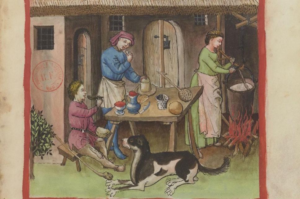 In de middeleeuwse keuken, Tacuinum sanitatis, 14e eeuw